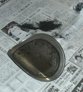 メンテ孔のフタもきれいに掃除