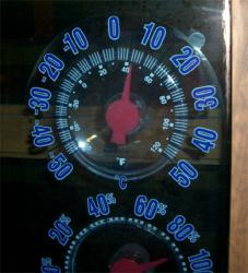 外気温は6度
