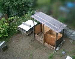 庭の堆肥箱