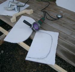 窯の扉カット-グラインダーに挑戦