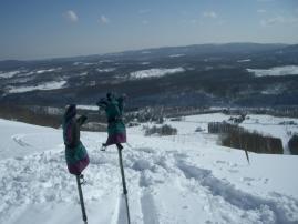 スキー場跡地の頂上から