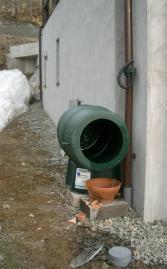 雨水タンクを洗浄