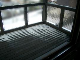 冬のベランダ