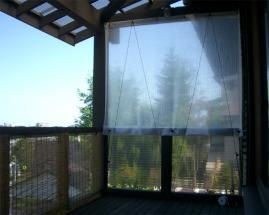 防風カーテン設置