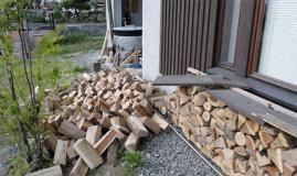 薪崩壊状況-横から