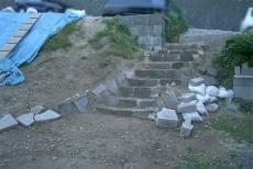 石階段土のう