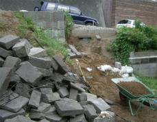 石階段工事着手