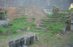 石階段脇-最初の状態