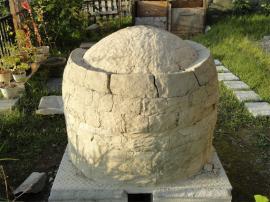 前回上積み粘土の収縮割れ目-背中側