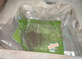 ストーブ庫内に落ちた煤