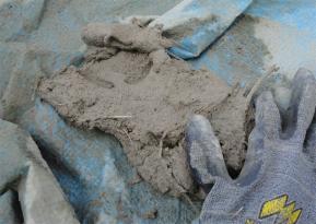 残った粘土