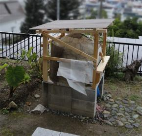 窯の屋根暫定完成