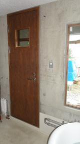 露天風呂のドア