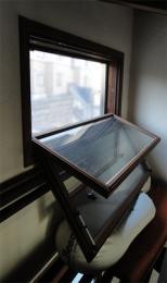 2階吹き抜け換気採光窓をフルオープンに