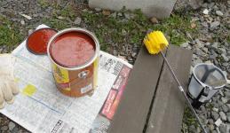 塗料の準備