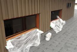 2階の吹き抜け窓