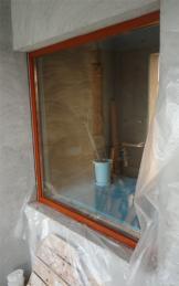 浴室の窓も塗装