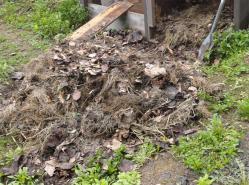 未熟堆肥の山