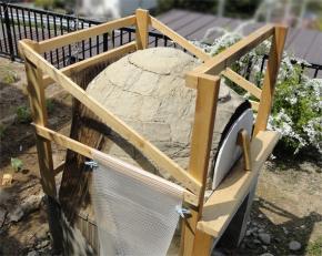 補修のために屋根オープン
