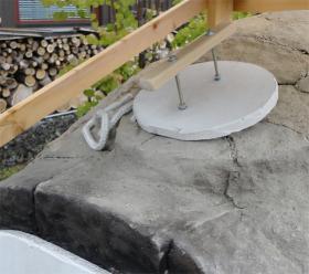 窯煙突孔のフタ完成