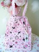 持ち手付き巾着(ピンク)