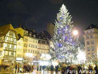 ストラスブール クレベール広場 クリスマスツリー