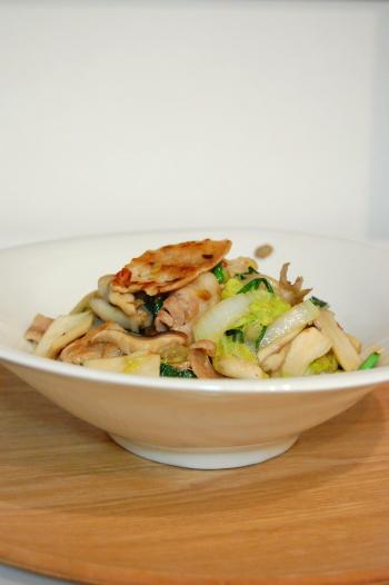 白菜と豚肉のサッパリ塩炒め