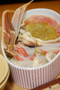 蟹しゃぶと甲羅酒セット