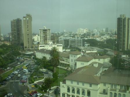 リマのホテルからの風景。