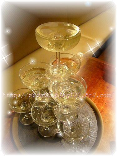 シャンパンタワー♪