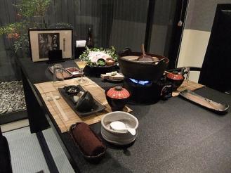 船山温泉 夕食 (1)