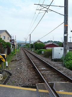 巻向駅ホーム~線路