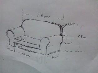ソファーの作り方1-2