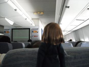 機内上映と唯ちゃん