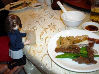 中華料理と唯ちゃんの2