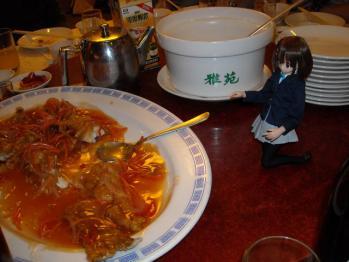 中華料理と唯ちゃんの3