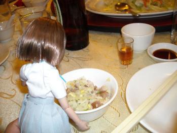 中華料理と唯ちゃんの4