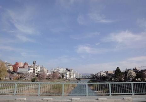 新橋より~犀川大橋方向