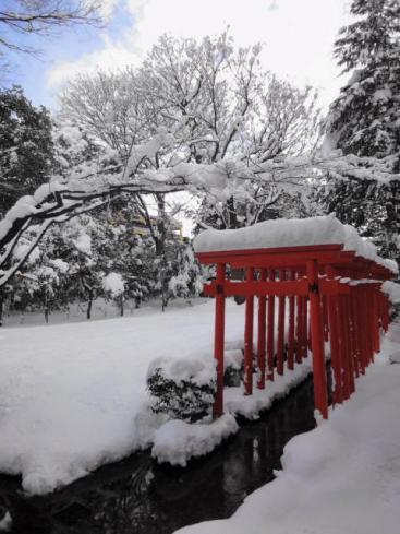 大雪の春日神社