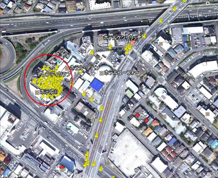 GPS幕張ホテル街
