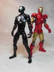 ブラックスパイディとアイアンマン