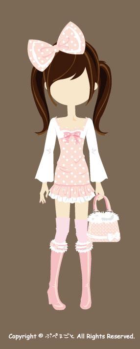 ピンク中服