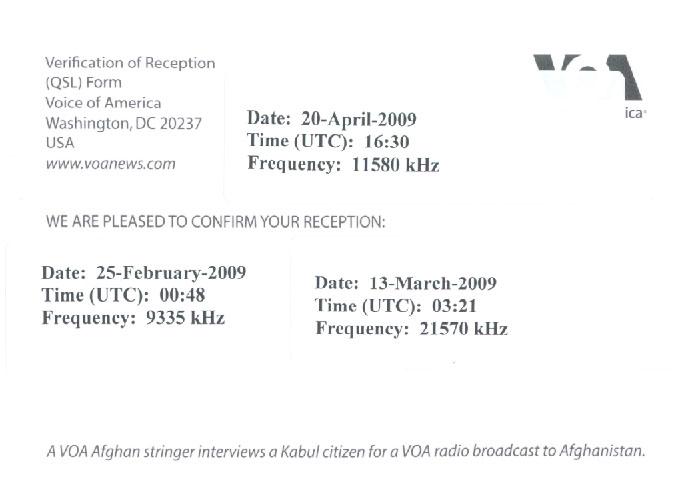 VOA Afghan stringer