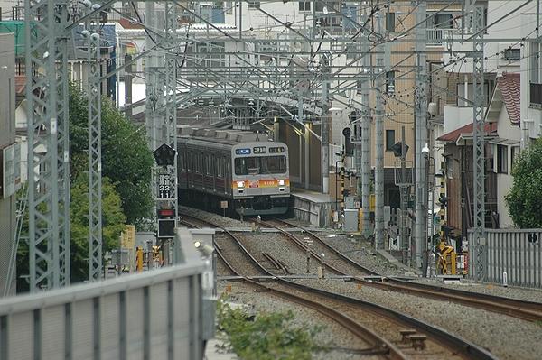 荏原町駅到着