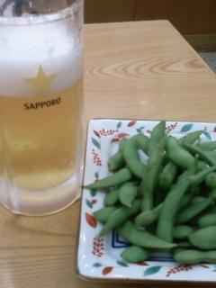出発前ビール