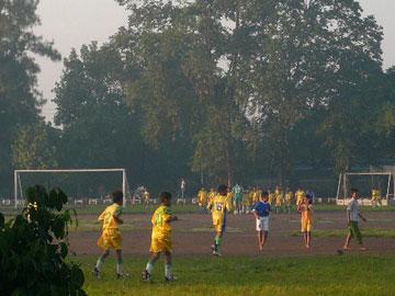 ジョグジャカルタのサッカー少年