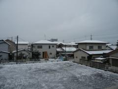 雪降ったんだね