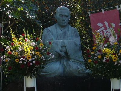 西光寺の近藤勇 座像