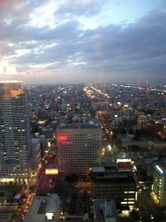 札幌の夜景・・・いや、夕方か・・・・