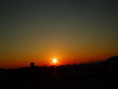 きれいな夕日